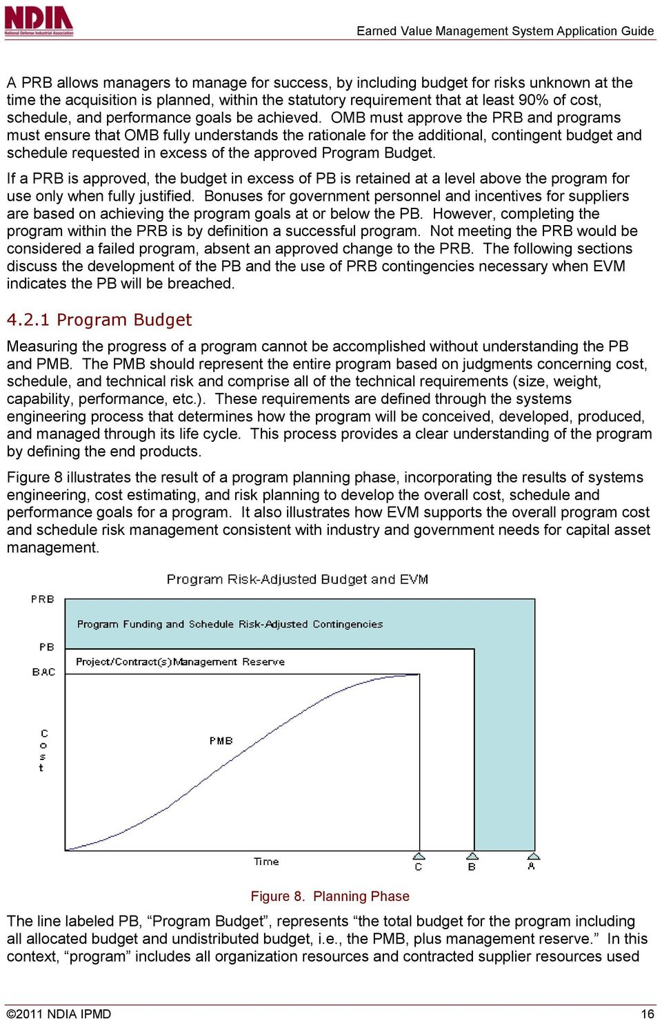 OMB must approve the PRB and programs must ensure that OMB fully understands the rationale for the additional, contingent budget and schedule requested in excess of the approved Program Budget.