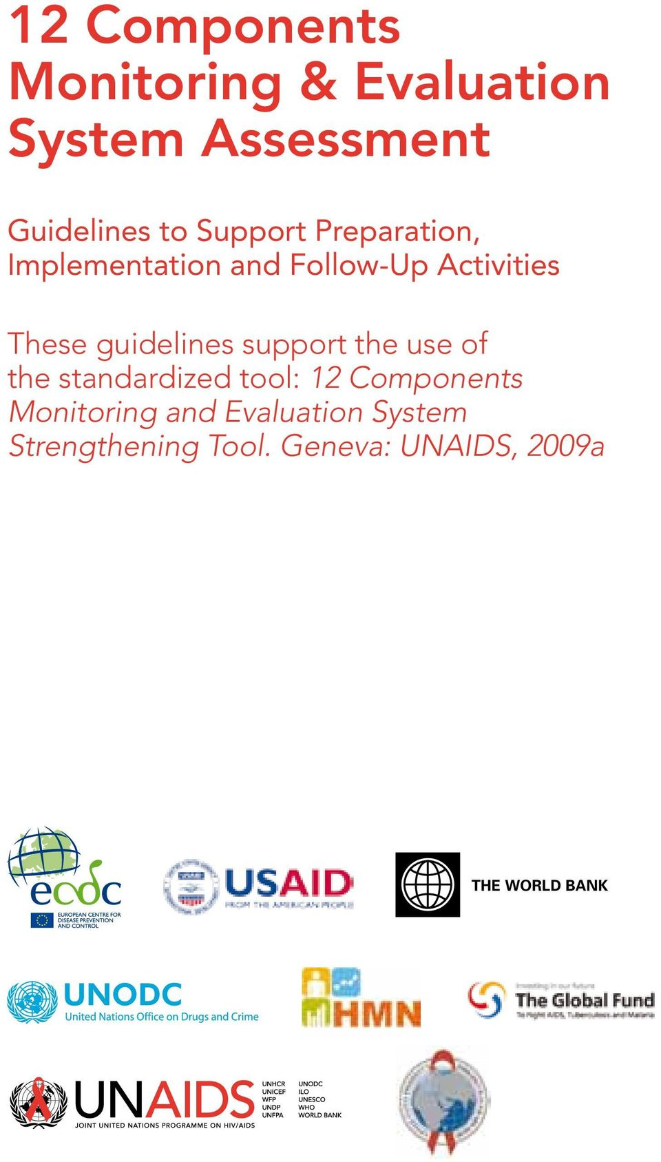 guidelines support the use of the standardized tool: 12 Components