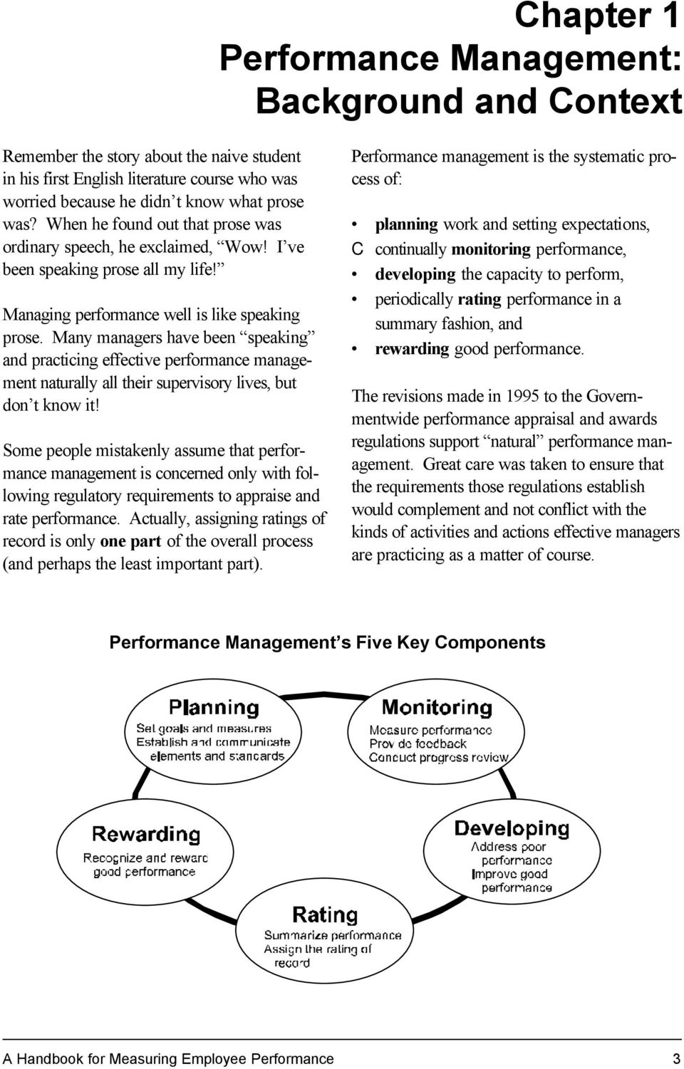 Many managers have been speaking and practicing effective performance management naturally all their supervisory lives, but don t know it!