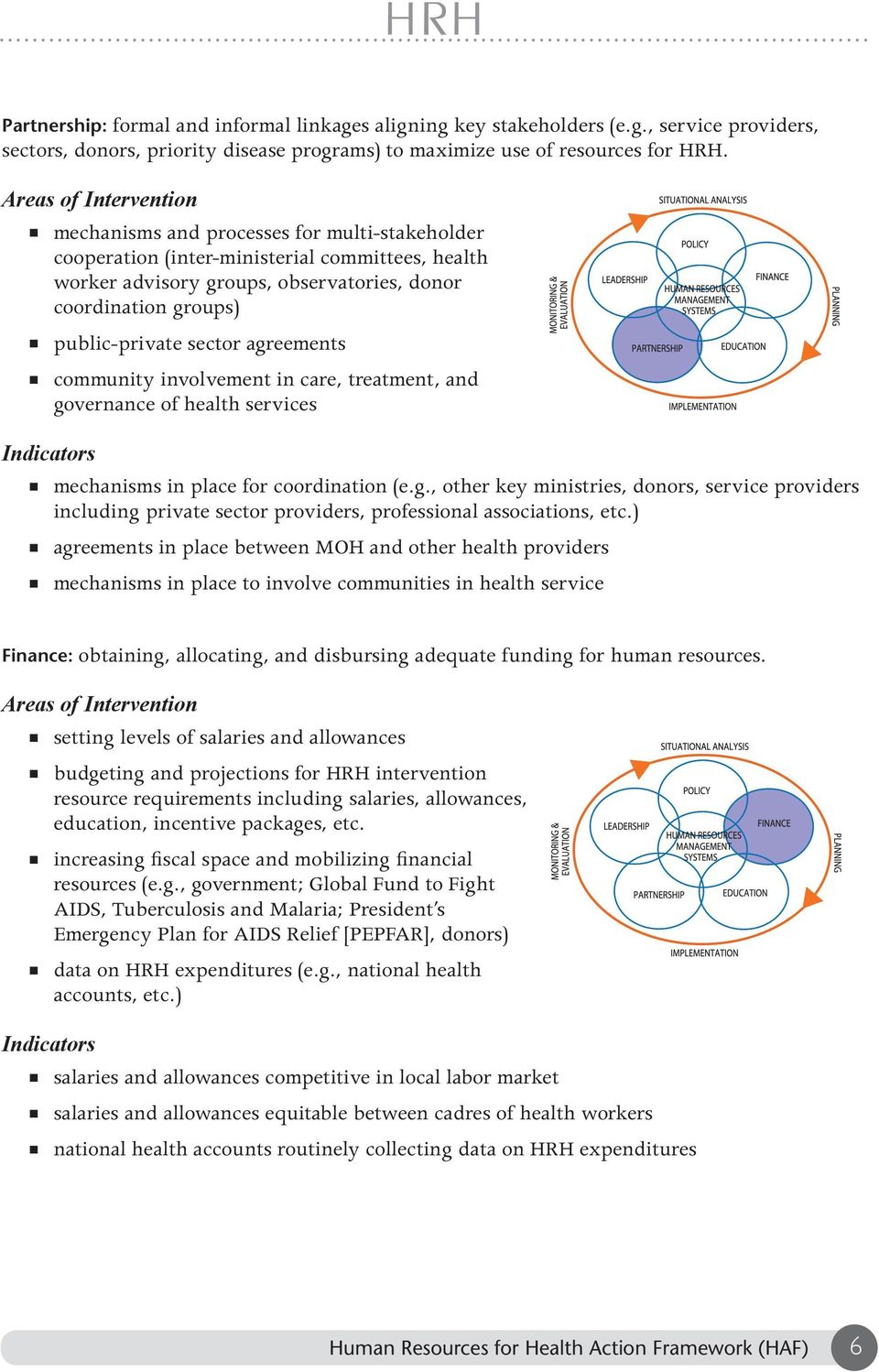 sector agreements community involvement in care, treatment, and governance of health services Indicators mechanisms in place for coordination (e.g., other key ministries, donors, service providers including private sector providers, professional associations, etc.