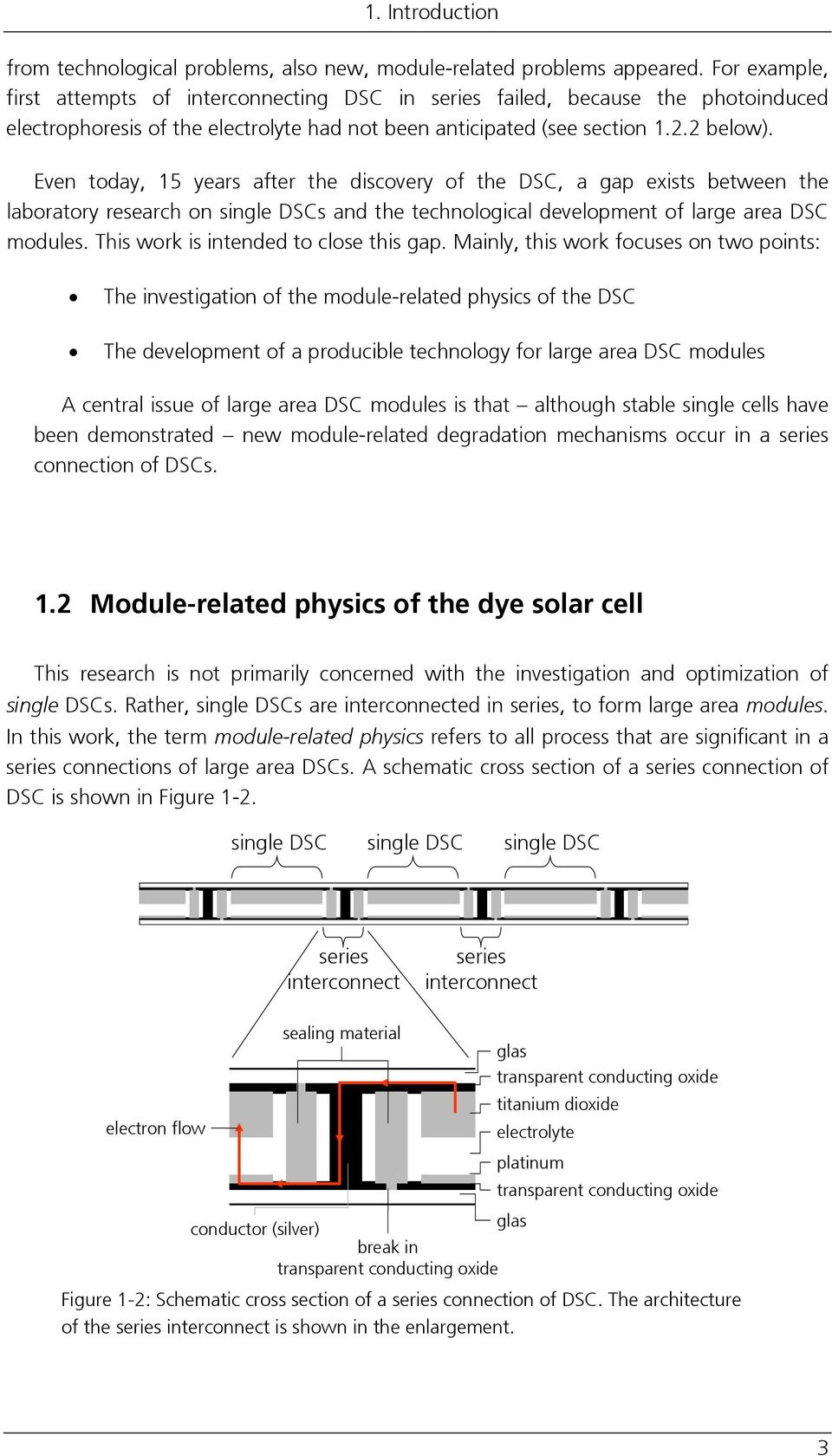 Even today, 15 years after the discovery of the DSC, a gap exists between the laboratory research on single DSCs and the technological development of large area DSC modules.