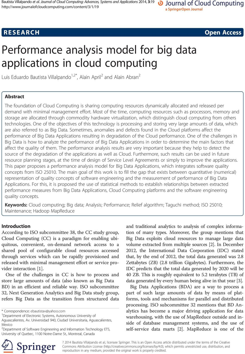Abrn 2 Open Access Abstrct The foundtion of Cloud Computing is shring computing resources dynmiclly llocted nd relesed per demnd with miniml mngement effort.