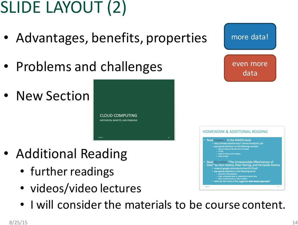 even more data New Section Additional Reading further