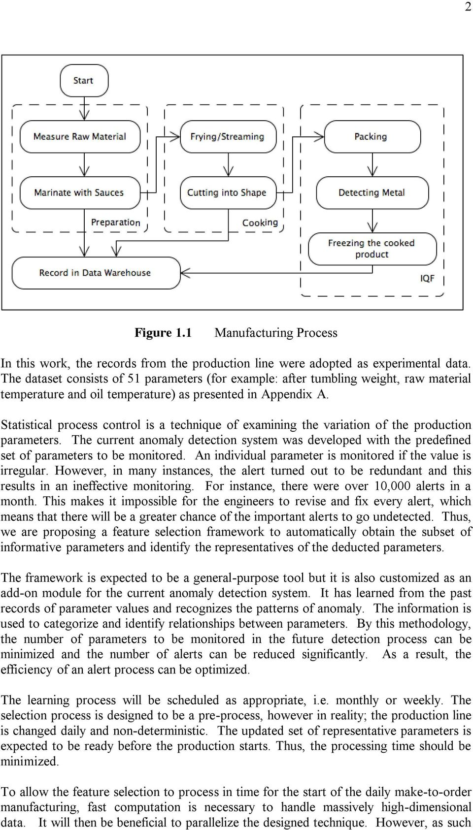 Statistical process control is a technique of examining the variation of the production parameters.