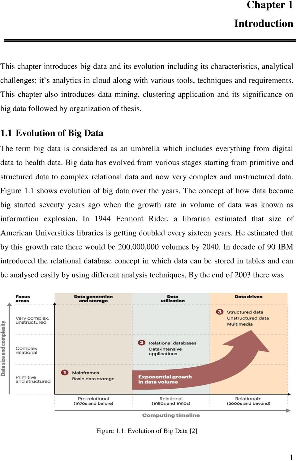 1 Evolution of Big Data The term big data is considered as an umbrella which includes everything from digital data to health data.