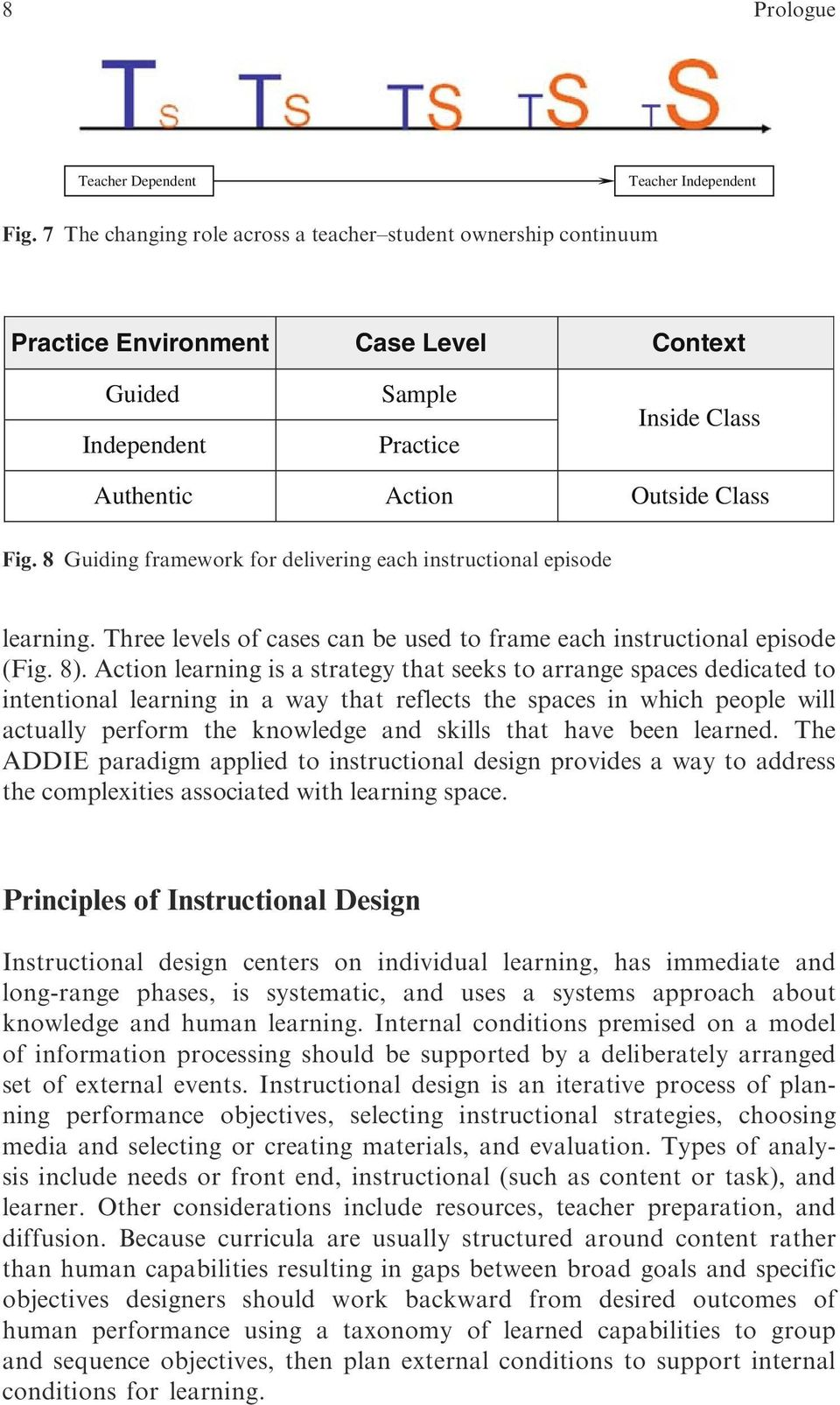 8 Guiding framework for delivering each instructional episode learning. Three levels of cases can be used to frame each instructional episode (Fig. 8).