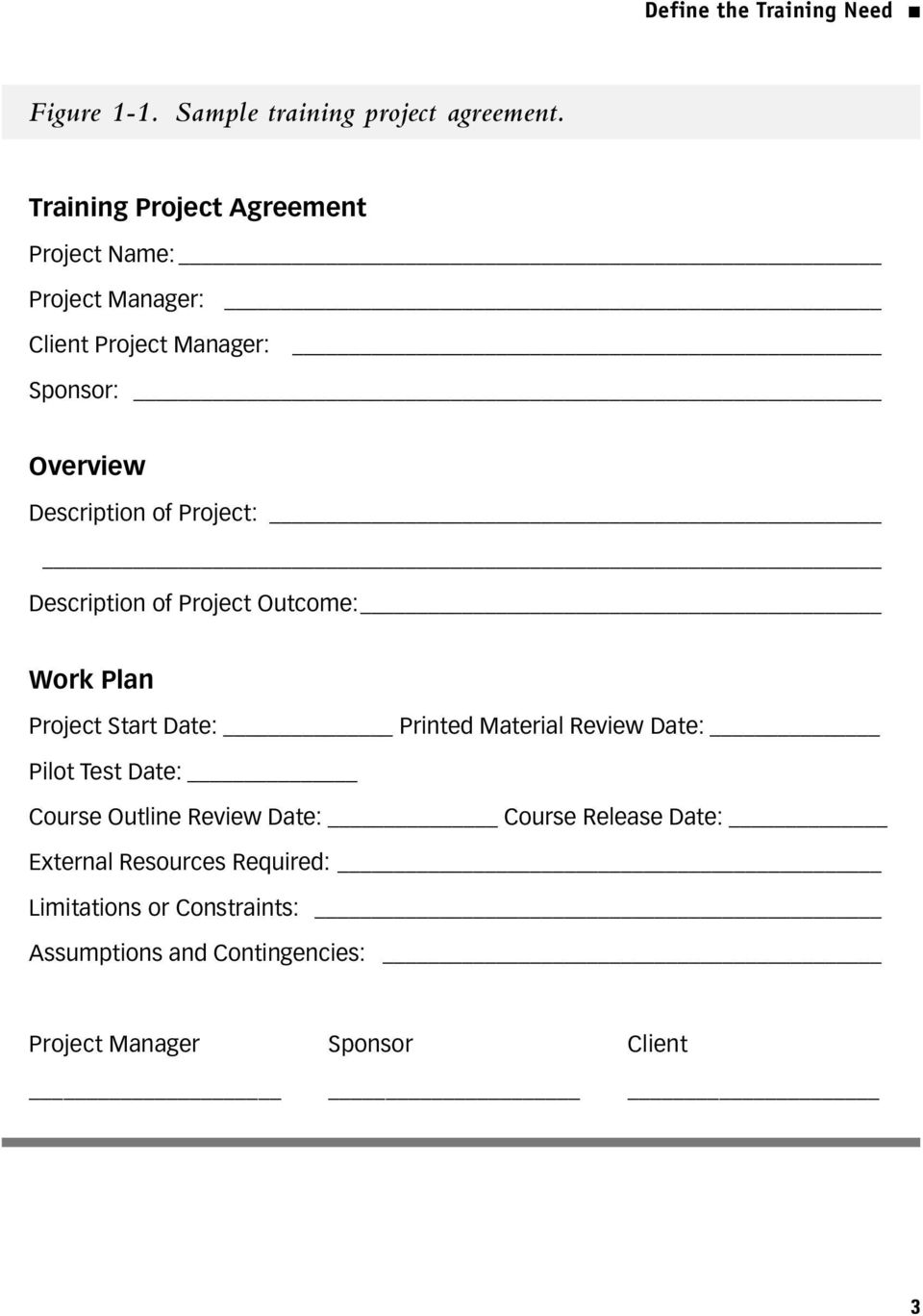 Project: Description of Project Outcome: Work Plan Project Start Date: Printed Material Review Date: Pilot Test Date:
