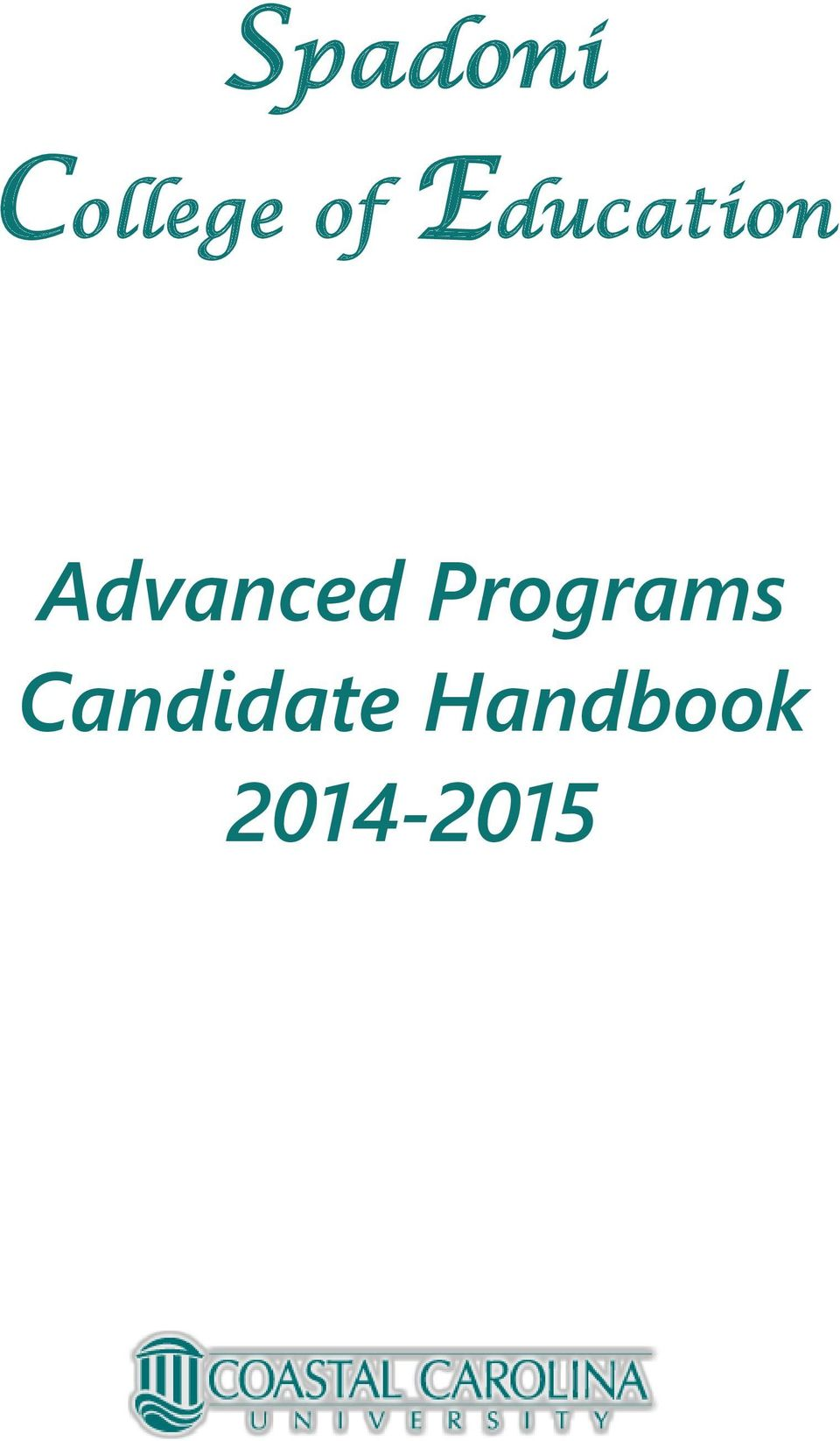 Programs Candidate
