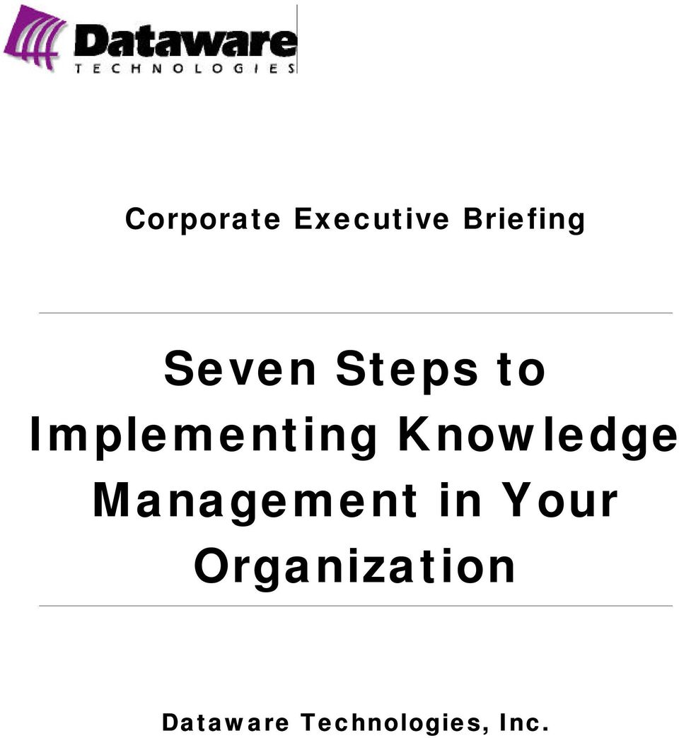 Knowledge Management in Your