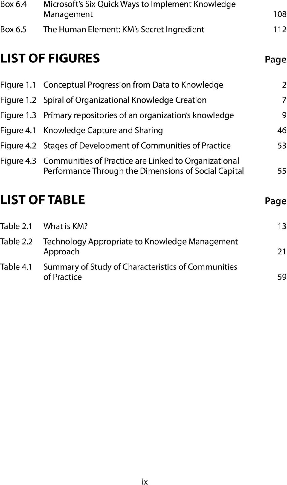 1 Knowledge Capture and Sharing 46 Figure 4.2 Stages of Development of Communities of Practice 53 Figure 4.
