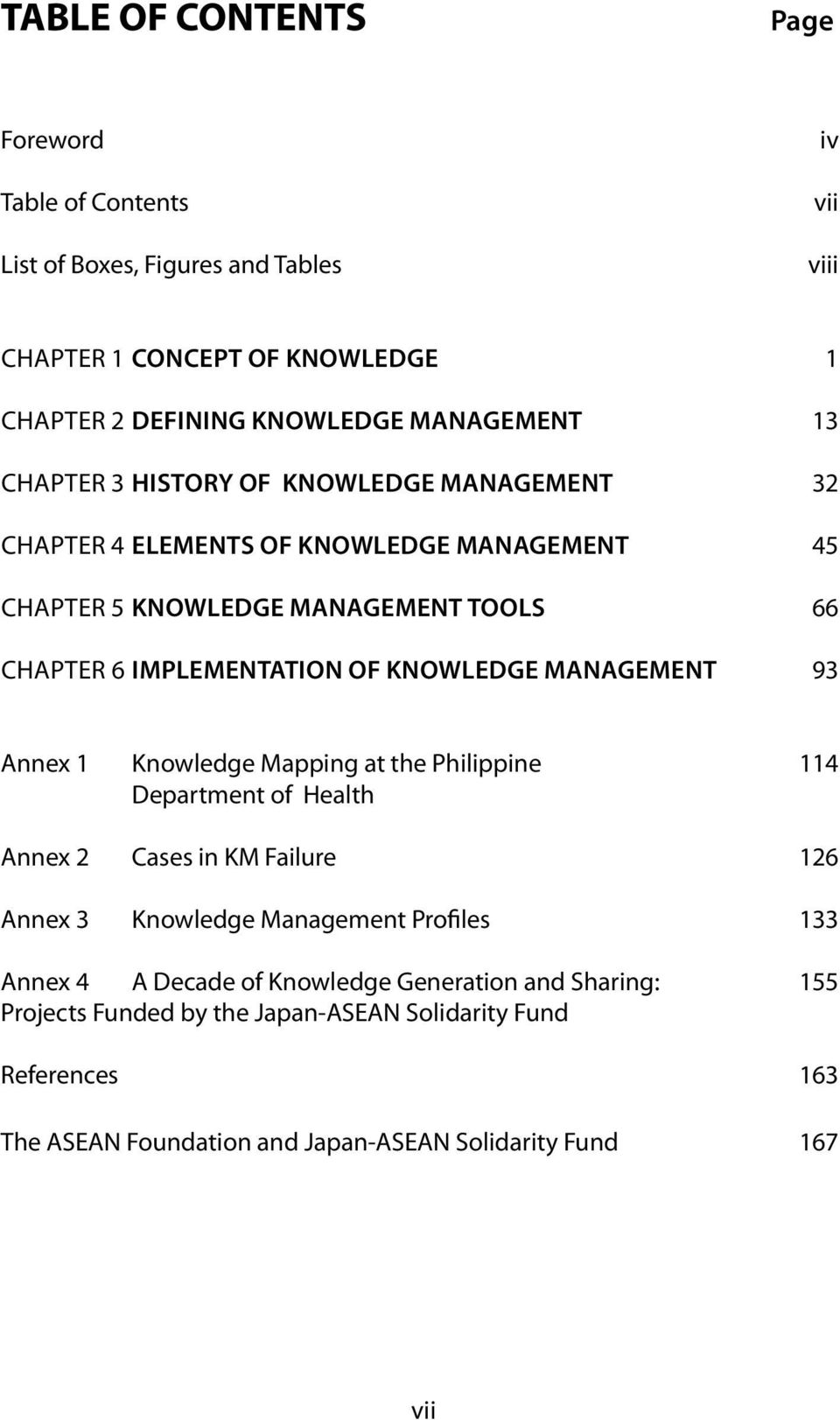 Knowledge Management 93 Annex 1 Knowledge Mapping at the Philippine 114 Department of Health Annex 2 Cases in KM Failure 126 Annex 3 Knowledge Management Profiles 133