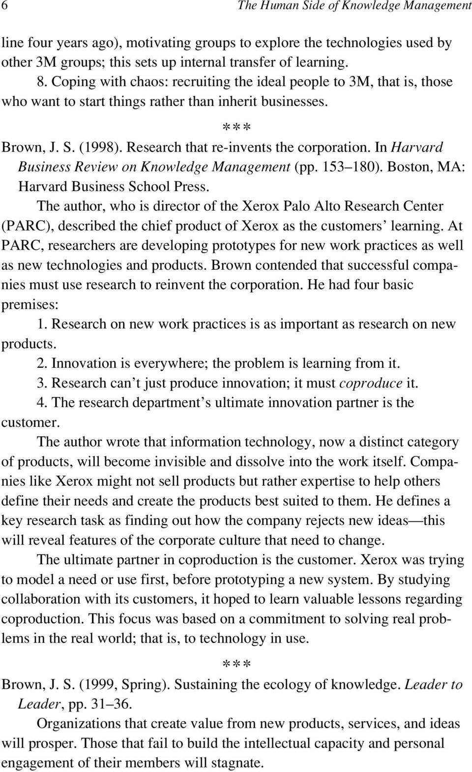 In Harvard Business Review on Knowledge Management (pp. 153 180). Boston, MA: Harvard Business School Press.