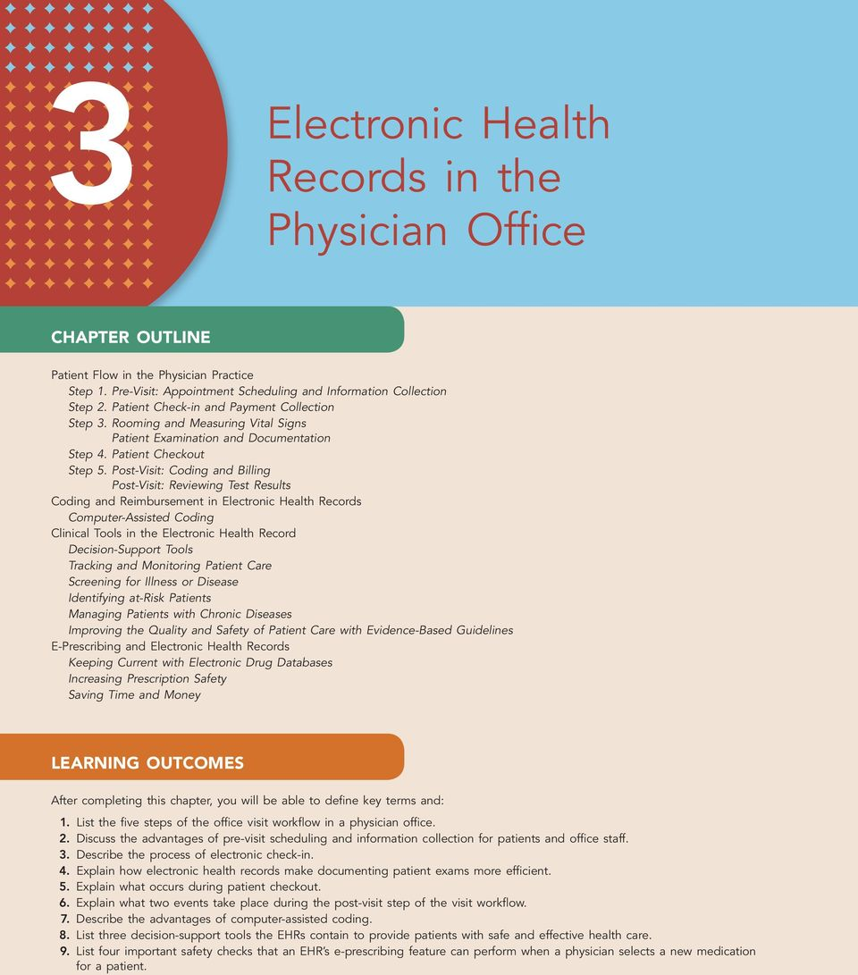 Post-Visit: Coding and Billing Post-Visit: Reviewing Test Results Coding and Reimbursement in Electronic Health Records Computer-Assisted Coding Clinical Tools in the Electronic Health Record