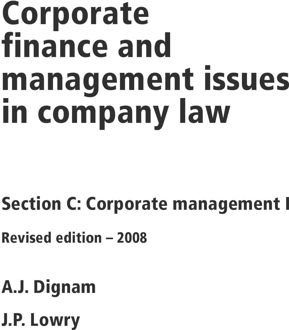 Corporate management I Revised