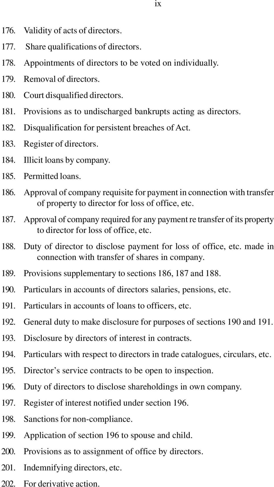 186. Approval of company requisite for payment in connection with transfer of property to director for loss of office, etc. 187.