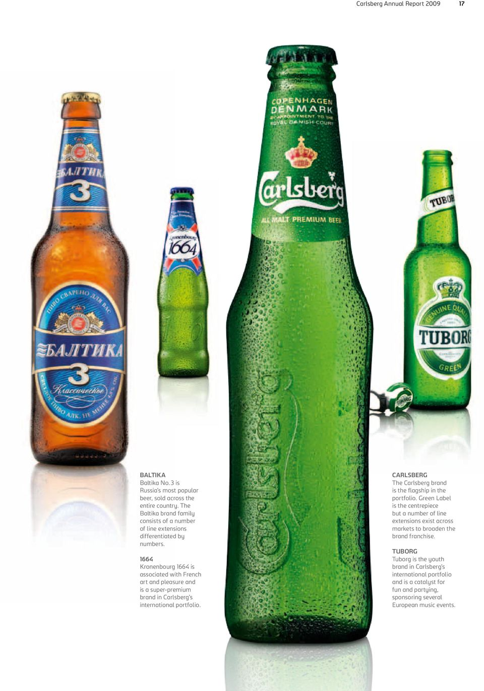 1664 Kronenbourg 1664 is associated with French art and pleasure and is a super-premium brand in Carlsberg s international portfolio.