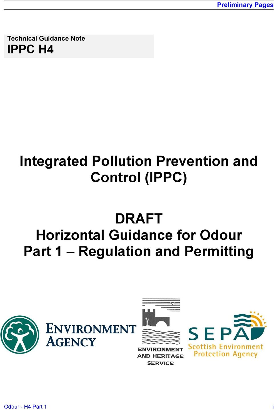 (IPPC) DRAFT Horizontal Guidance for Odour Part