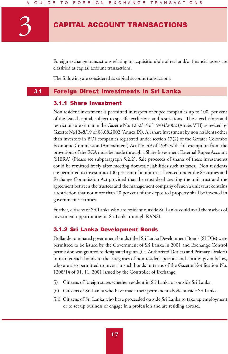 Foreign Direct Investments in Sri Lanka 3.1.