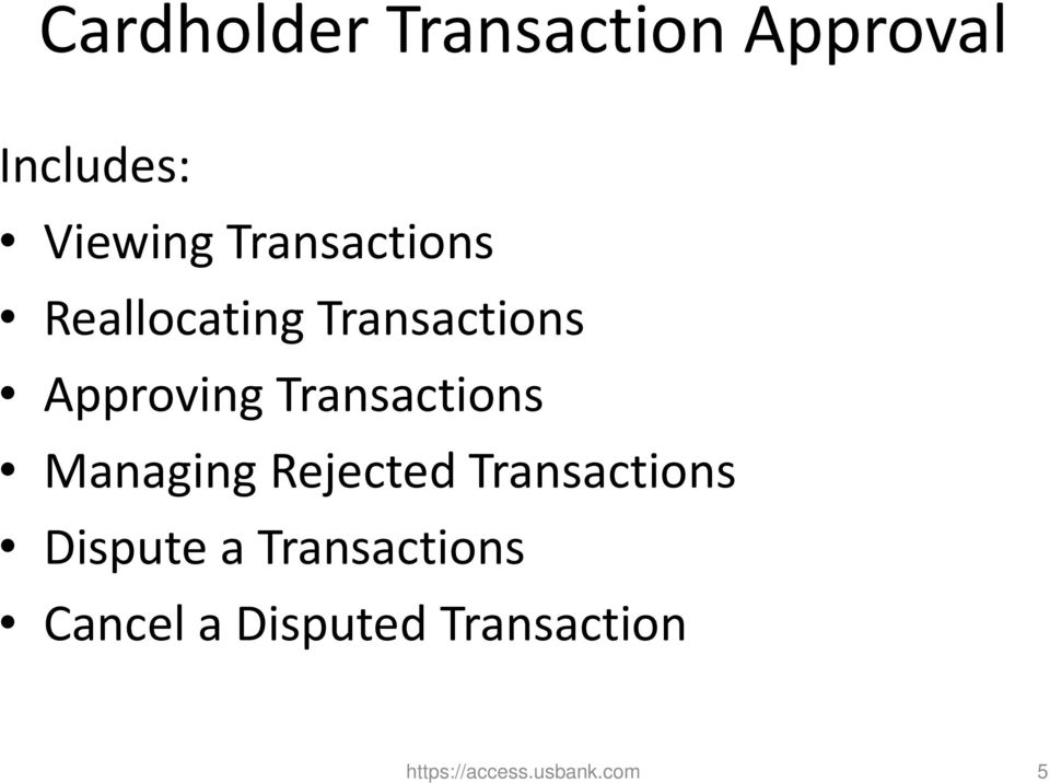 Transactions Managing Rejected Transactions Dispute a