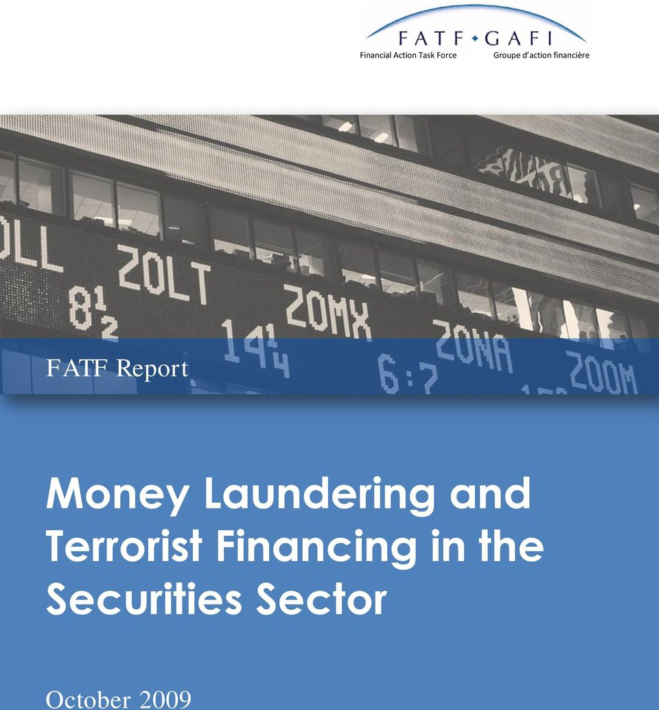 Report Money Laundering and Terrorist