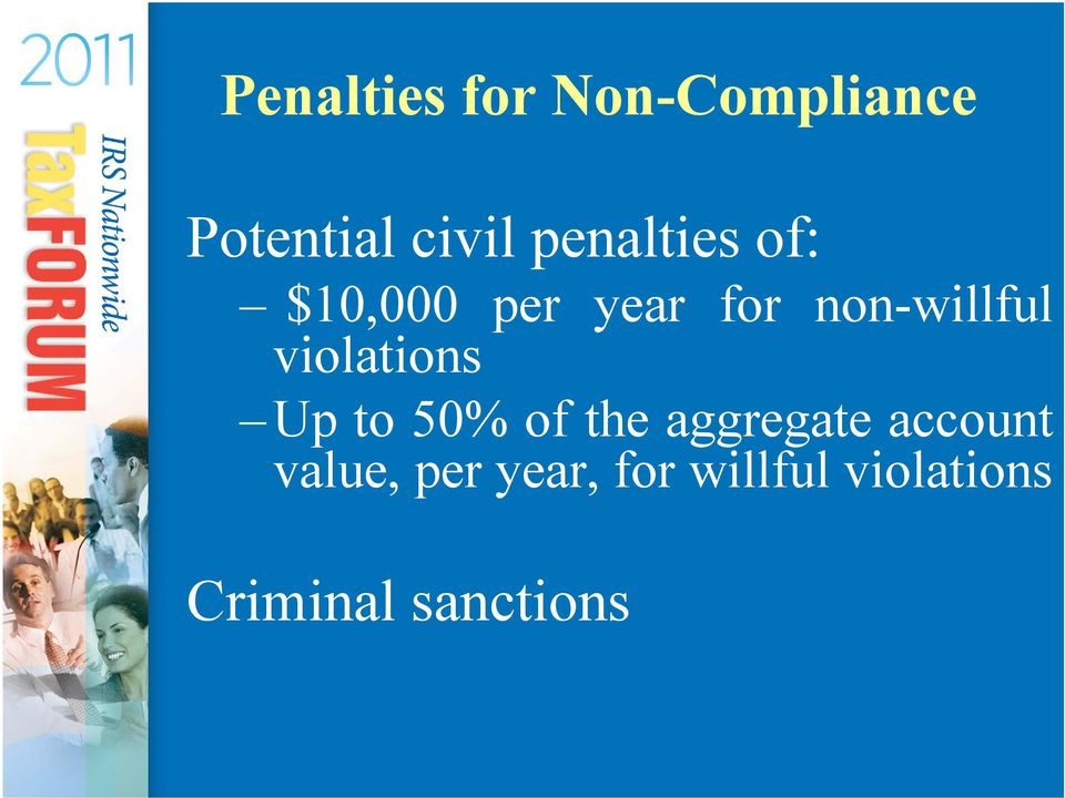 violations Up to 50% of the aggregate account