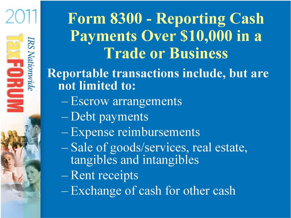 arrangements Debt payments Expense reimbursements Sale of goods/services,
