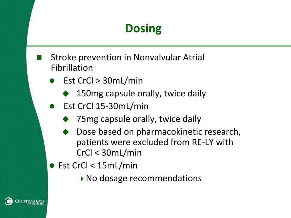 orally, twice daily Dose based on pharmacokinetic research, patients were