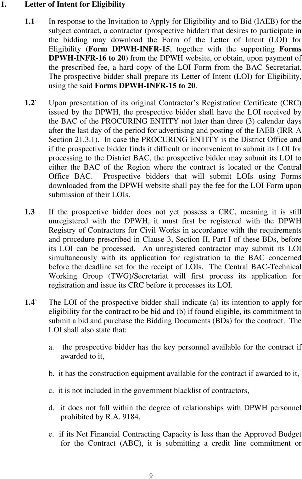 Letter of intent contract – Loi Template