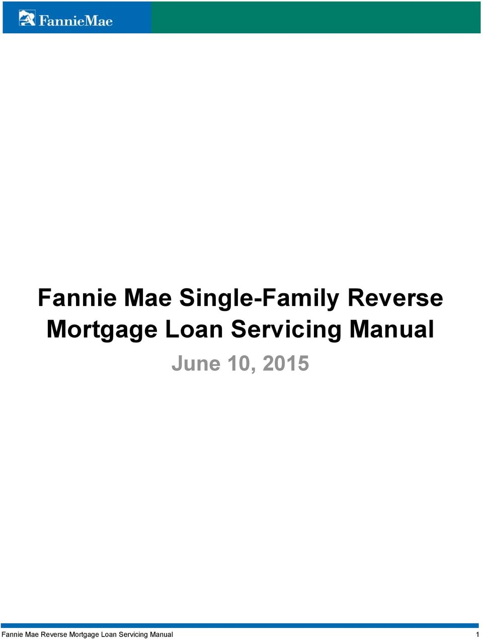 June 10, 2015 Fannie Mae Reverse
