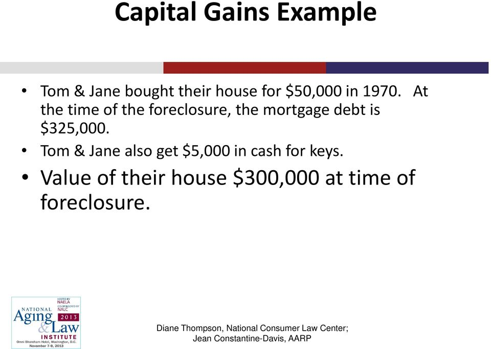 At the time of the foreclosure, the mortgage debt is