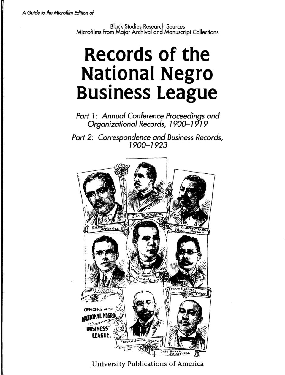 League Part 1: Annual Conference Proceedings and Organizational Records, 1900-1919