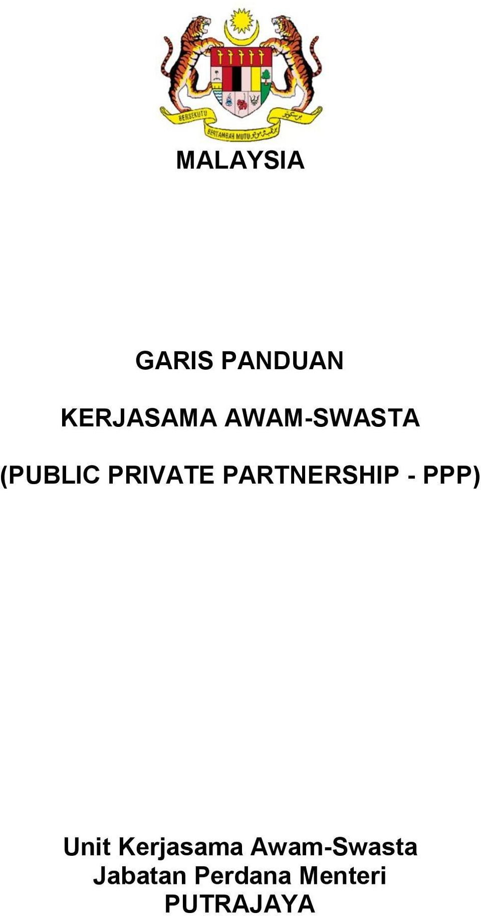 PARTNERSHIP - PPP) Unit Kerjasama