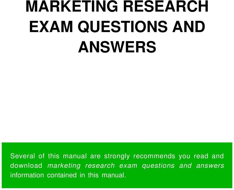 marketing exam question Marketing aptitude test questions and answers model questions and answers for preparation sample papers for online test previous placement question for practice.