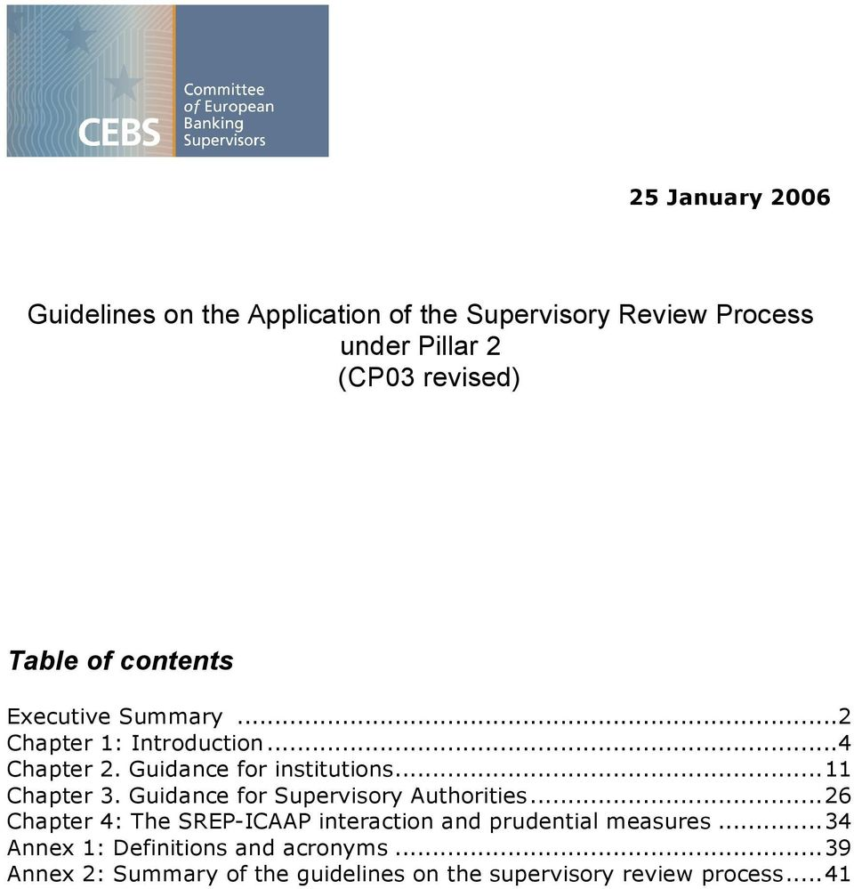 ..11 Chapter 3. Guidance for Supervisory Authorities.