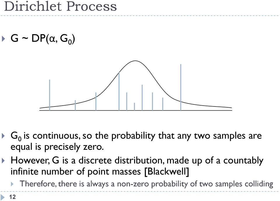 However, G is a discrete distribution, made up of a countably infinite