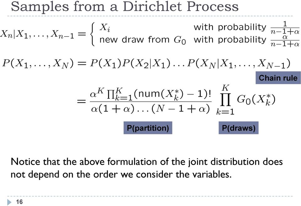 formulation of the joint distribution does