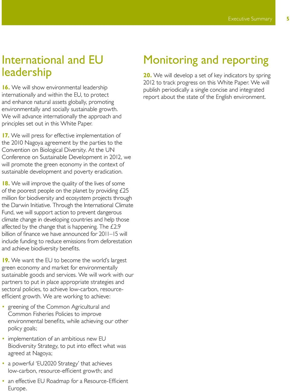 We will advance internationally the approach and principles set out in this White Paper. Monitoring and reporting 20.