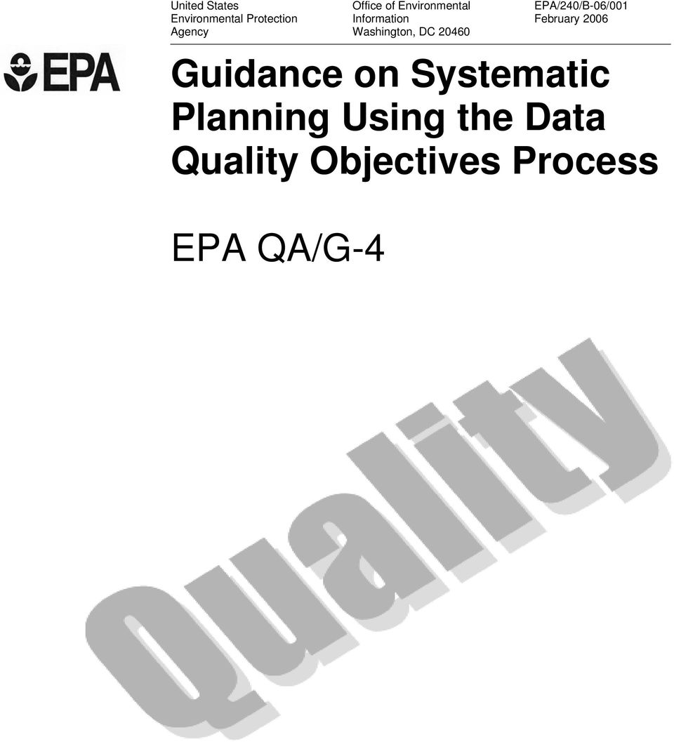 EPA/240/B-06/001 February 2006 Guidance on Systematic