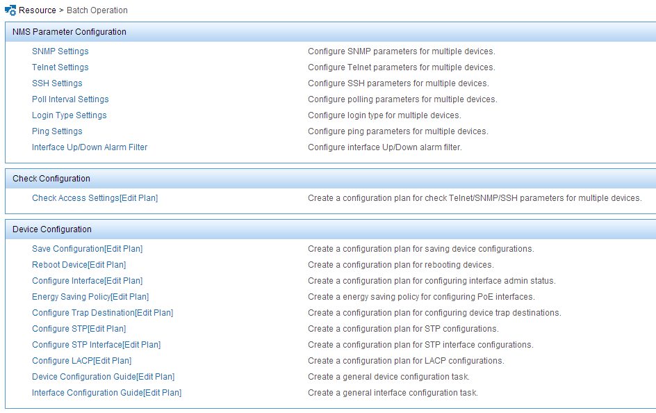 Last two items are used for more generic configuration wizards and there are some predefined operations there.