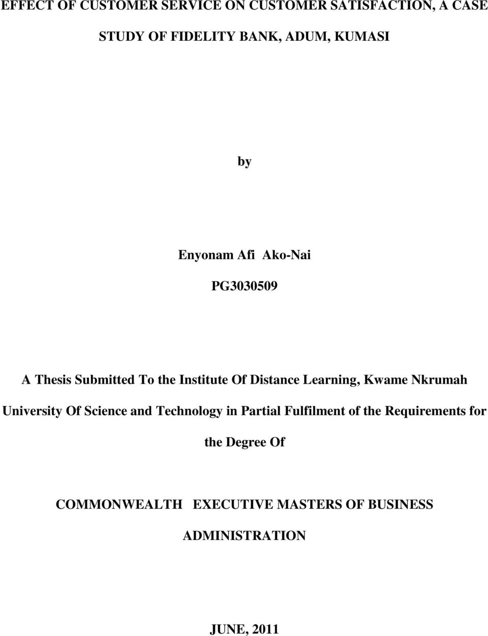 thesis on hotel industry Service quality and customer satisfaction in the hotel industry supervisor: prof alessandro brun master graduation thesis by: le na student id number: 736358.