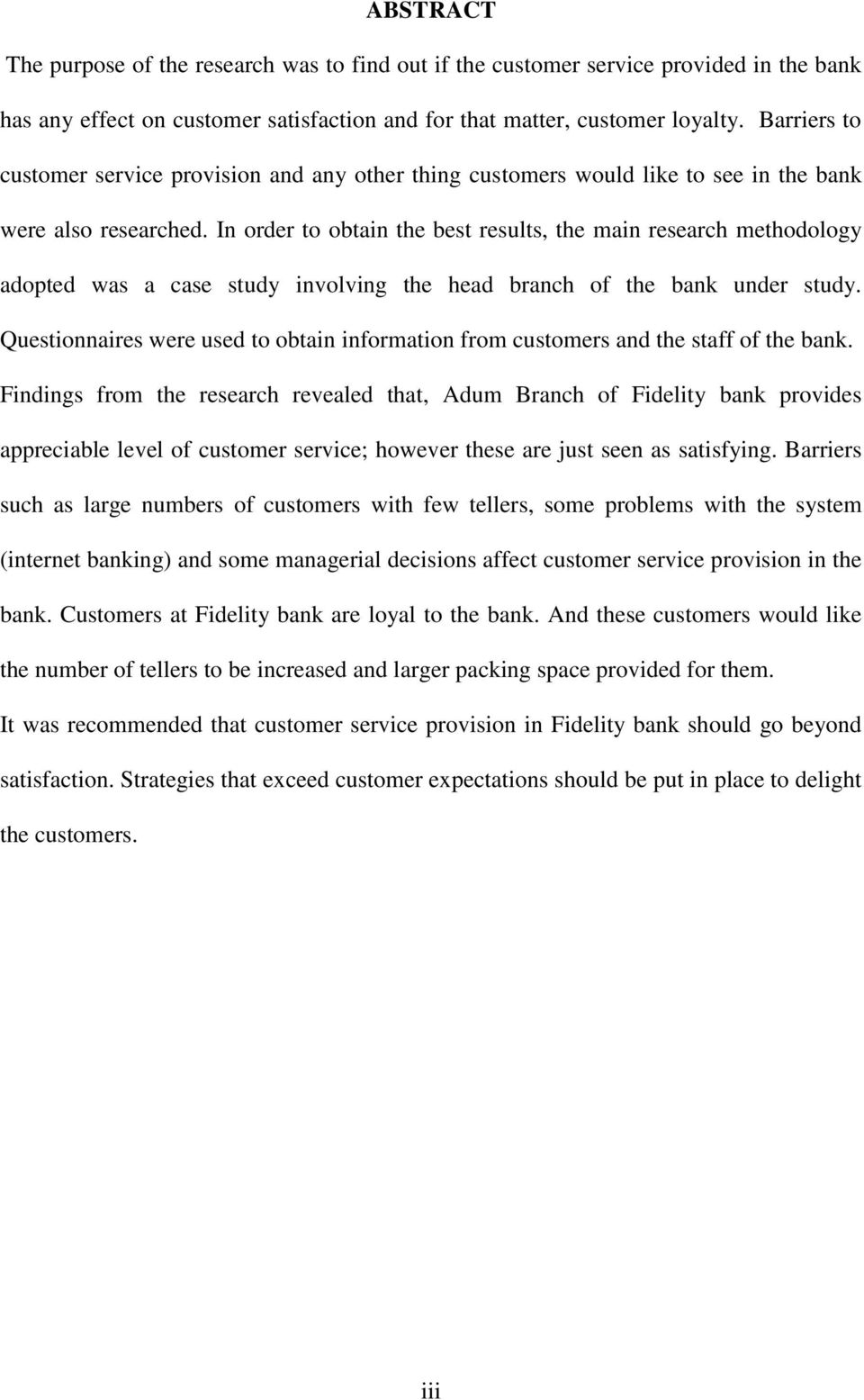 Dissertation Proposal Service On Customer Satisfaction
