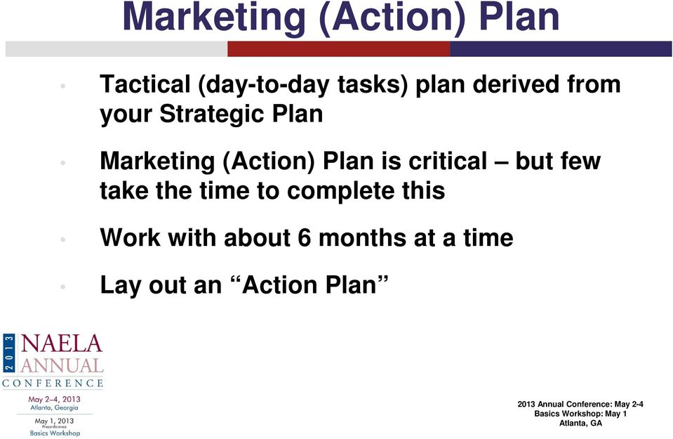 (Action) Plan is critical but few take the time to