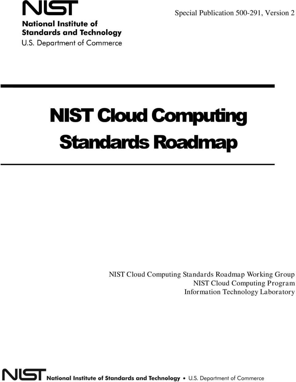 Computing Standards Roadmap Working Group NIST