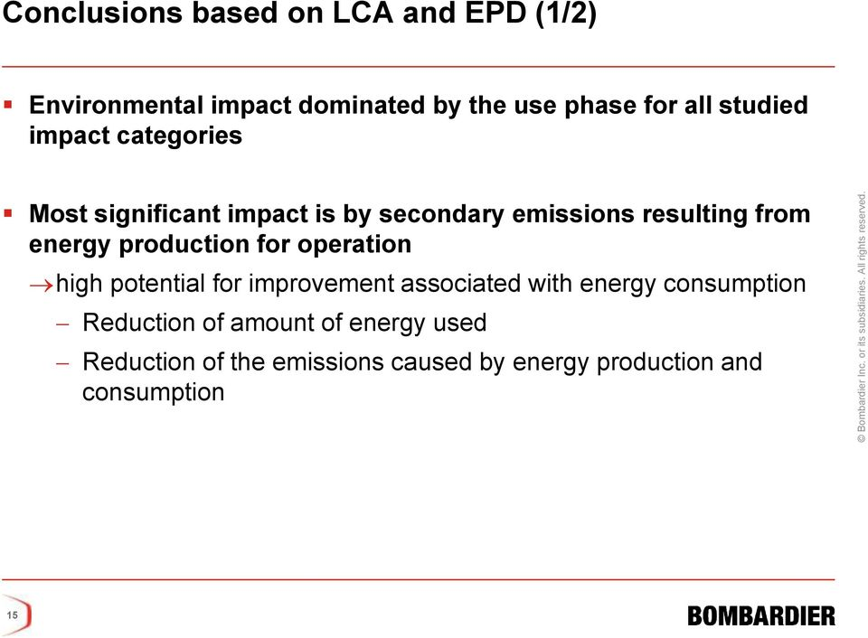 production for operation high potential for improvement associated with energy consumption