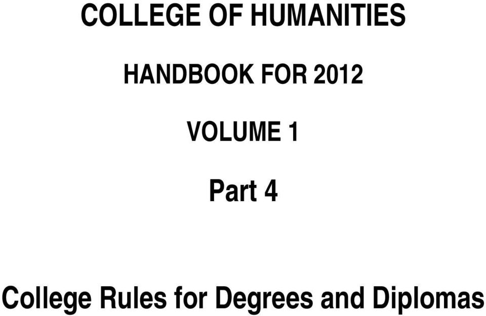 VOLUME 1 Part 4 College