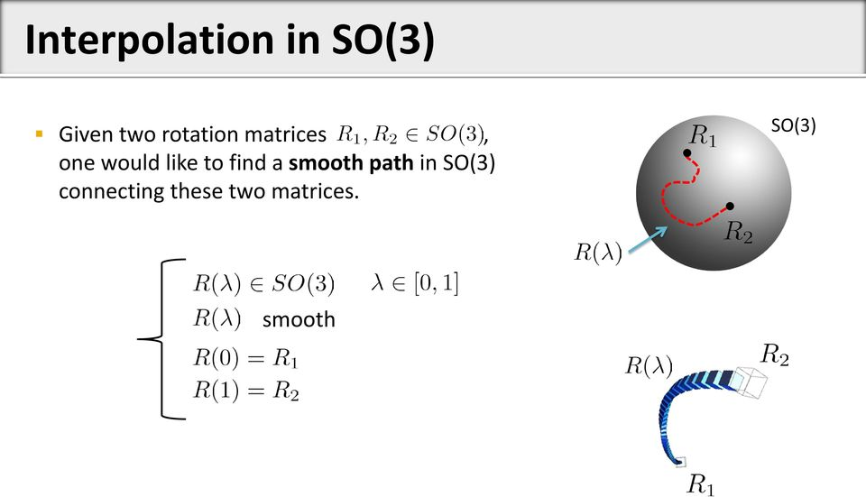 to find a smooth path in SO(3)