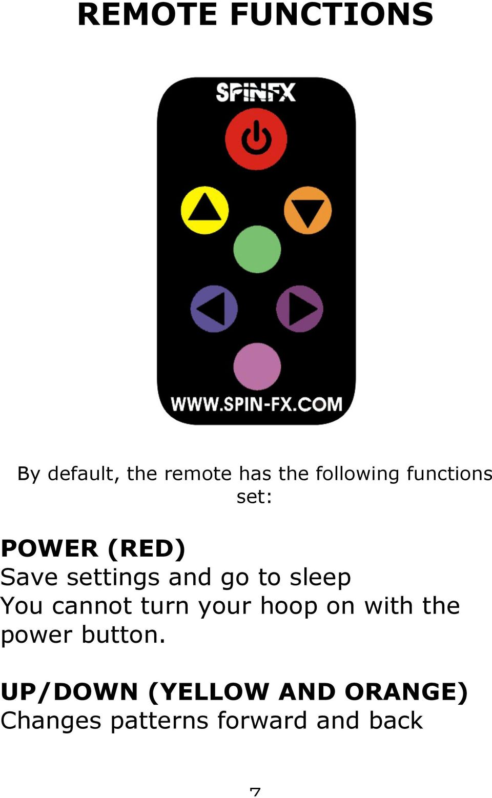 You cannot turn your hoop on with the power button.
