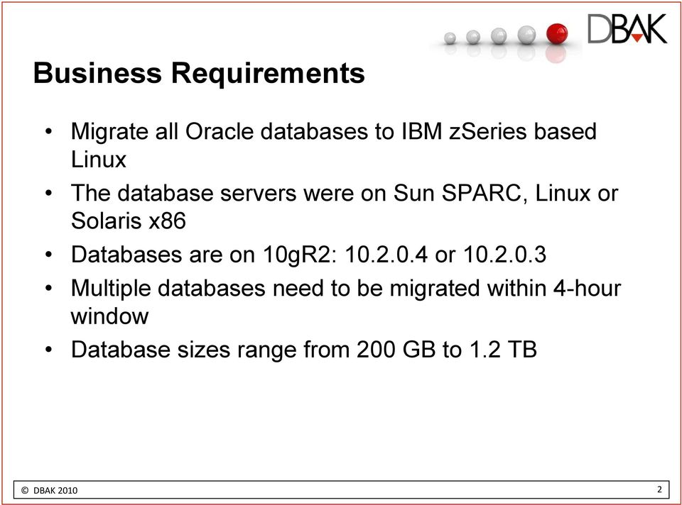 Databases are on 10g