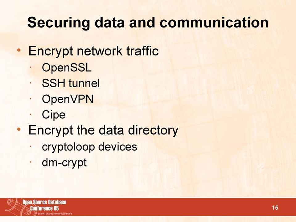 tunnel OpenVPN Cipe Encrypt the data