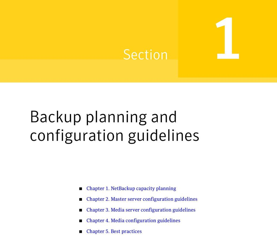 Master server configuration guidelines Chapter 3.